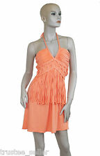 NWT SKY Brand Women's Mango Halter Braided Fringe Hobo Sexy Party Dress