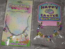 Charm Necklace Bracelet Bunny Egg Chick Flowers Easter Holiday Jewelry NEW!