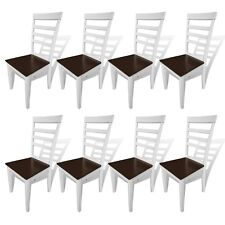 New 2/4/6/8 pcs Brown White Solid Wood Dining Chairs Kitchen Furniture Durable