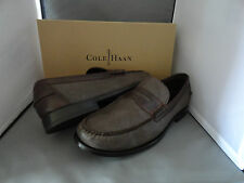NEW COLE HAAN HENDERSON PENNY II MENS LEATHER LOAFER SHOES SABLE DARK BROWN $198