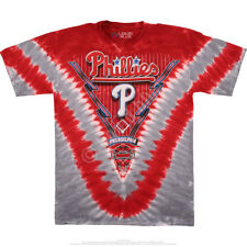 New Authentic MLB Philadelphia Phillies Youth Tie Dye Liquid Blue T-Shirt