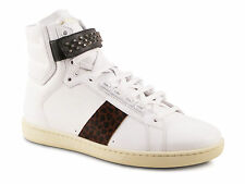 Saint Laurent mens white Leather high fashion sneakers shoes