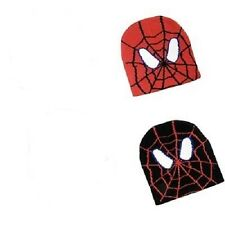 BOYS SPIDERMAN BEANIE RED OR BLACK BRAND NEW ONE SIZE FITS MOST