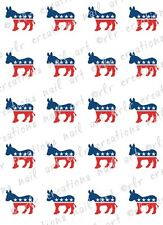 20-  Election Go Vote Water Slide Nail Decals Democrat or  Republican 4 Choices