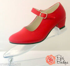 New Girls & Ladies Spanish Flamenco Dance Shoes Bright Red - Girls & Adult Sizes