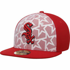 Chicago White Sox New Era Stars & Stripes 59FIFTY Fitted Hat - White/Red - MLB