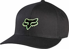 FOX RACING LEGACY FLEXFIT HAT FLEX FIT CAP HAT LID MENS ADULT GUYS BLACK GREEN