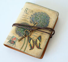 Leather Mini Butterfly Notebook Journal Vintage Shabby Style Travel Note Book