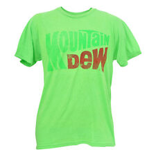 Distressed Mountain Dew Mint Green Mens Tshirt Mtn Soda Pop Beverage Tee