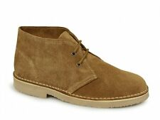 Roamers ORIGINAL Unisex Mens Ladies Soft Suede Leather Lace Up Desert Boots Sand