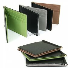 New Mens Leather Wallet Card Holder Coin Purse Pockets Money Clip Wallets DZ88