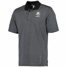 Men's adidas Black/Gray 2016 Ryder Cup Performance 3-Color Stripe Polo - Golf