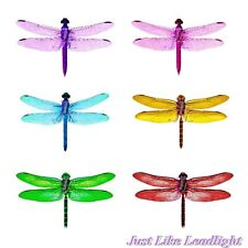 6 Dragonfly 3D stickon wing decoration- crystal suncatchers, wall, wedding craft