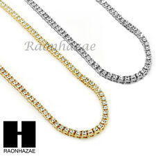 ICED OUT HIP HOP MIGOS RICK ROSS SIMULATED CLEAR DIAMOND TENNIS CHAIN NECKLACE