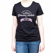 NEW - NUMBER 1 MUM - Women's Black T-Shirt - Present Gift Xmas Birthday