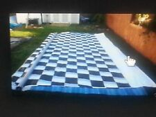 CHECKERED RACEFLAG RV AWNING VINYL FABRIC A&E DOMETIC NEW 14'-21'