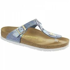Birkenstock GIZEH Ladies Toe Post Buckle Lightweight Summer Sandals Snake Sky