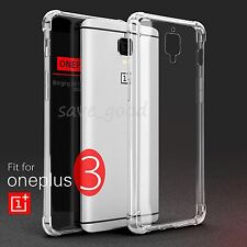 Shockproof Soft Silicone Rubber TPU Gel Slim Back Case Cover For OnePlus 3 Three
