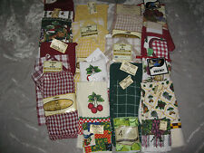 Assorted Kitchen Towels Dishcloths Pot Holders Oven Mitts Cook Clean NEW!
