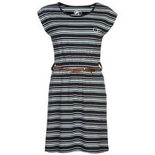 Ocean Pacific Womens Belt Dress Ladies Striped Short Sleeve Round Neck Top
