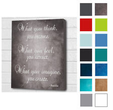 BUDDHA WALL PICTURE QUOTE 'WHAT YOU THINK..WALL CANVAS/POSTER PRINT A4/A3