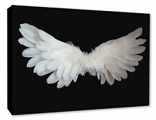 Angel Wings Wall Picture Black/White Canvas Print Poster A1/A2/A3/A4