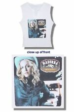 Madonna-NEW JUNIORS/BABY DOLL Music V-Notch T Shirt(S,M) SALE FREE SHIP TO U.S.!