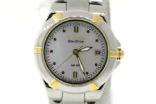 Ladies Citizen EW1534-57D Eco-Drive Two-Tone Stainless Steel MOP Dial Date Watch