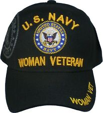 U.S. Navy Woman Veteran Shadow Bill Logo Ladies Cap
