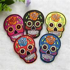 Newest Art Funny Skull Embroidered Cloth Sew Motif  Iron On Patch Applique DIY