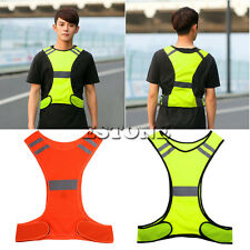 New Safety High Visibility Reflective Running Vest Jogging Bike Cycling Walking