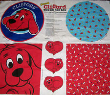 CLIFFORD the BIG RED DOG :  100% cotton licensed cut & sew CUSHION PANEL