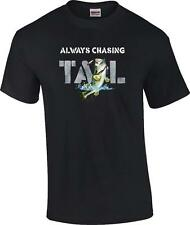 Funny Always Chasing Tail Largemouth Bass Fishing Lure Humor T-Shirt