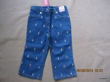 Gymboree Sugar and Spice Denim Gingerbread Kids Jeans 6-9-12-2T NWT New