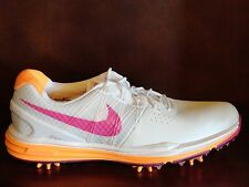 New! Womens NIKE LUNAR CONTROL Golf Shoes Spikes WHITE/PINK/CITRUS