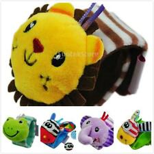Soft Plush Stuffed Animals Lovely Wristband Rattle Kids Play Learn Hand Toy Gift