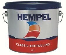 Hempel Classic Antifouling 2.5L  4 Colours Available YACHT MOTOR BOAT MARINE