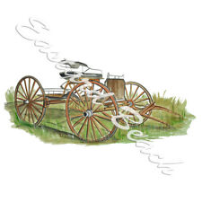 Old Wooden Horse Wagon Buggy Vinyl Decal Sticker - Car Truck RV Cup Boat Tablet