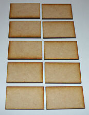10 x WOODEN UNPAINTED BLANK MINI SIGNS / PLAQUES, CRAFTS, MDF BLANKS