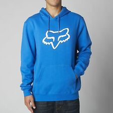 NEW FOX RACING LEGACY FOXHEAD PO FLEECE PULL OVER BLUE HOODIE MENS ADULT
