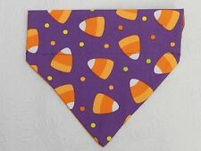 DOG/CAT/FERRET Over Collar REVERSIBLE Bandana~Halloween Holiday Candy Corn