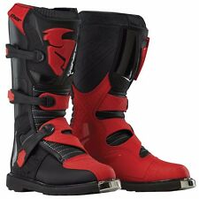 NEW MENS ADULT MX MOTOCROSS ATV RIDING BOOTS THOR BLITZ CE BLACK RED