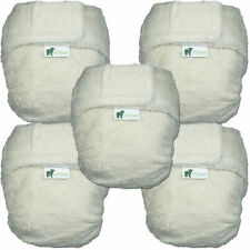 NEW Little Lamb Day Pack - 5x Nappy +1 wrap - Bamboo, Microfibre, Organic Cotton