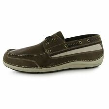 Rockport Mens Shoal Lake Boat Shoes Lightweight Leather Laces Panels Casual