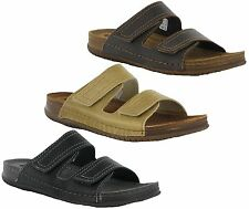 Inblu Leather Twin Lined Soft Cushion Slip On Summer Holiday Mens Sandals