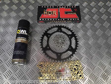 SUZUKI DRZ 400 S 00-15 UPGRADED O RING JT CHAIN AND SPROCKET S SET KIT GOLD