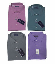Ralph Lauren Purple Label Italy Mens Solid Button Down Spread Sport Dress Shirt