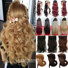 Clearance Real Natural Clip In Half Full Head Hair Extensions Brown Blonde nt5
