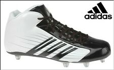ADIDAS SCORCH TD D MID FOOTBALL SHOES CLEATS #352613 WHITE/BLACK