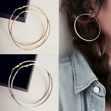 Vogue 14K Gold Silver Plated Women Hoop Earrings Dangles Fashion Jewelry mh